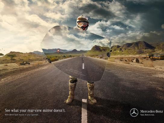 Mercedes Print Ad -  Danger in the rear-view mirror, 3
