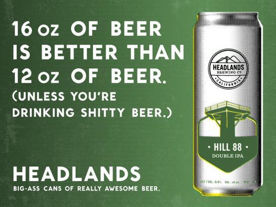 Headlands Print Ad -  16oz