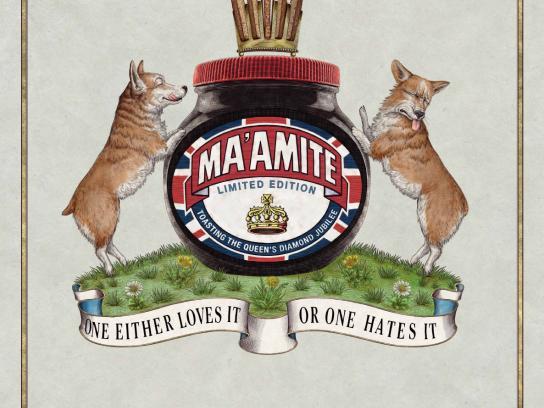 Marmite Outdoor Ad -  Ma'amite Jubilee