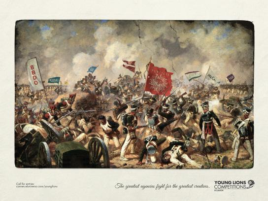 Young Lions Print Ad -  Battle of 1815