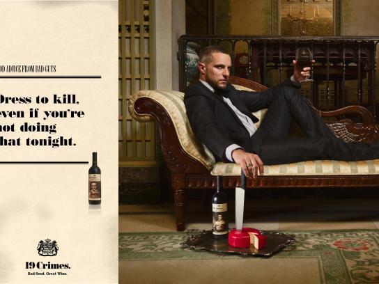 Treasury Wine Estates Print Ad -  Good advice from bad guys, 4