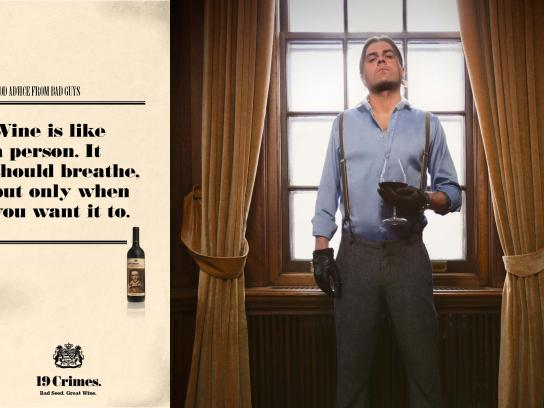 Treasury Wine Estates Print Ad -  Good advice from bad guys, 6