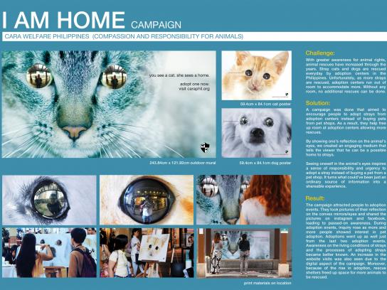 CARA Outdoor Ad -  I am home - outdoor