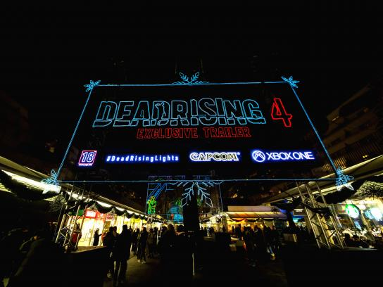 Dead Rising Experiential Ad - Christmas lights walkthrough