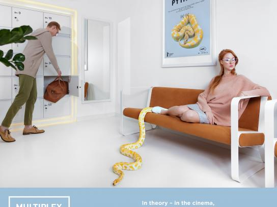 Multiplex Cinema Digital Ad - Snake
