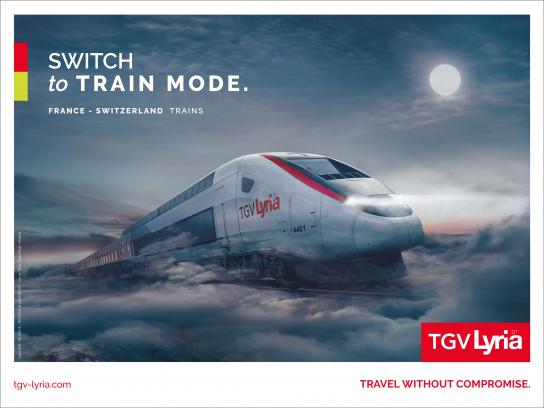 TGV Lyria Outdoor Ad - Night