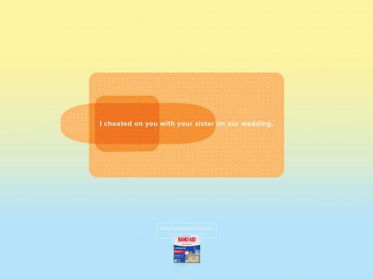 Band Aid Print Ad - Cheater