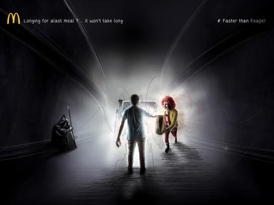 McDonald's Print Ad - Faster Than Reaper