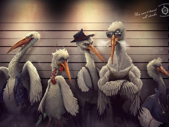 Santa Therezinha Maternity Hospital Print Ad -  Bad storks, Lineup