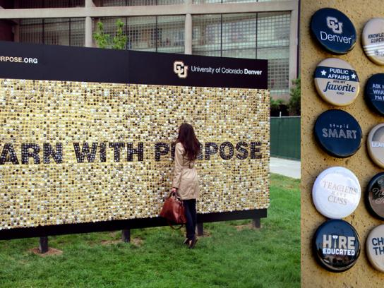 CU Denver Outdoor Ad -  Button Wall
