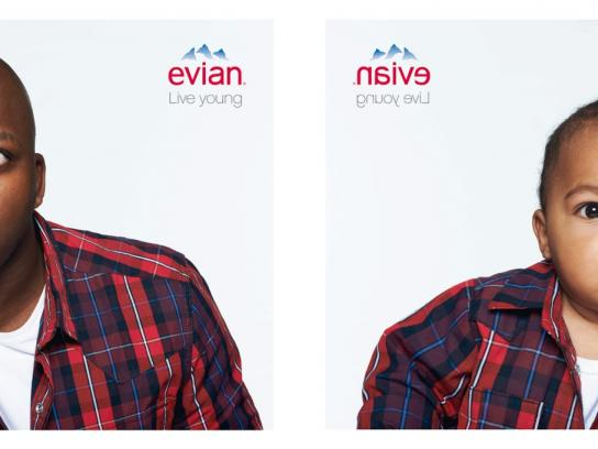 Evian Print Ad -  Fred & Enzo