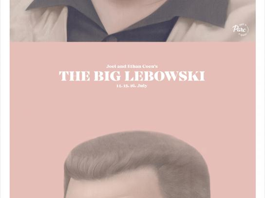 Cinema du Parc Outdoor Ad - The Big Lebowski