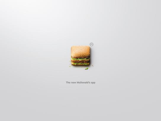 McDonald's Outdoor Ad - App-Icons, Big Mac