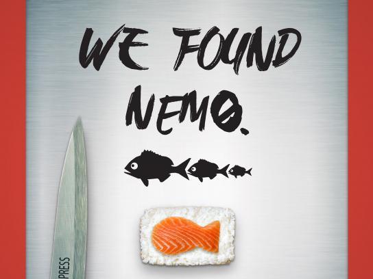 Sono Sushi Print Ad - NEMO
