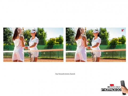 Montecable Print Ad -  Tennis