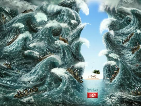 Kit Kat Print Ad -  Break, Storm