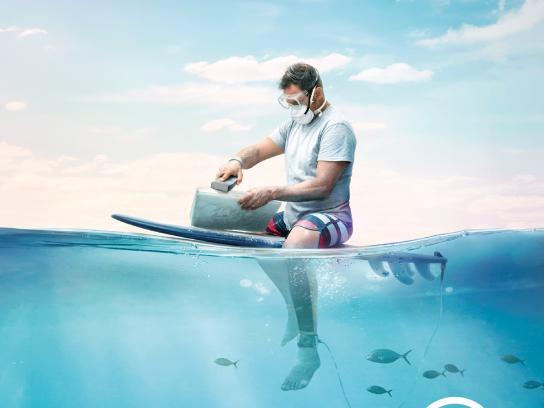 Associação Surf Social Wave Print Ad - Depois da onda há muito mar, 4