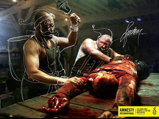 Amnesty International Print Ad -  Signatures against torture, 1