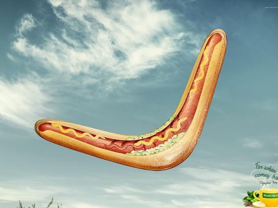 Mundo Verde Print Ad -  Hot dog