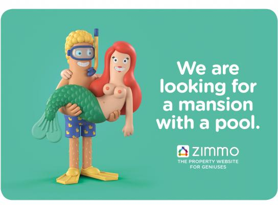 Zimmo Print Ad - The Property Website for Geniuses