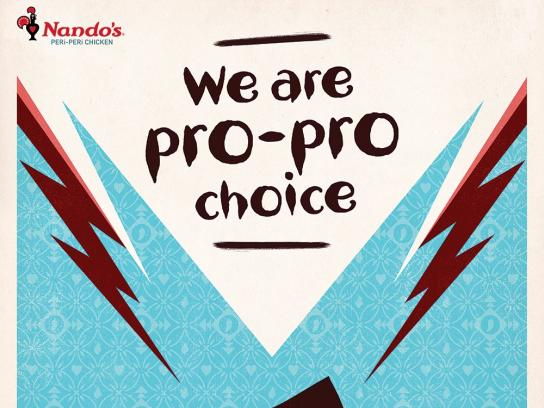 Nando's Outdoor Ad - Pro Pro Choice