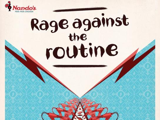 Nando's Outdoor Ad - Rage Against Routine