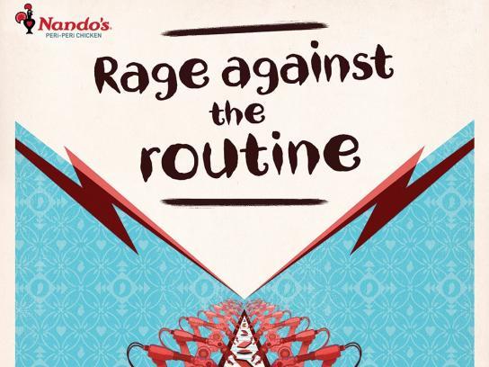 Nando's Outdoor Ad - Rage Against Routine