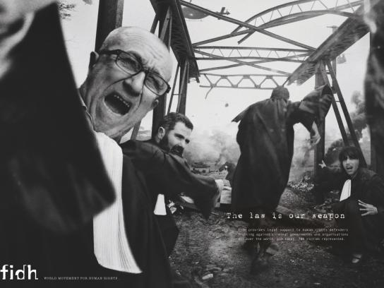 fidh Print Ad -  The law is our weapon, 2