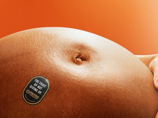 Fundacion Repro Print Ad - Fruits - Orange