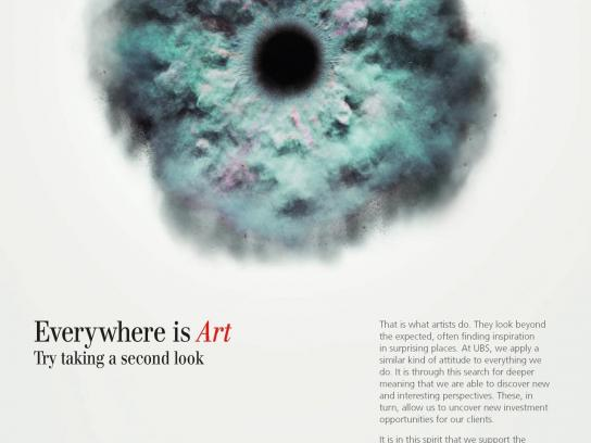 UBS Outdoor Ad -  Everywhere is Art, 2