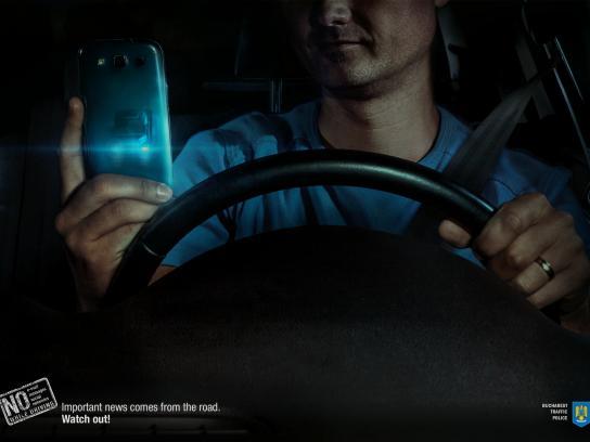 Bucharest Traffic Police Print Ad -  Truck