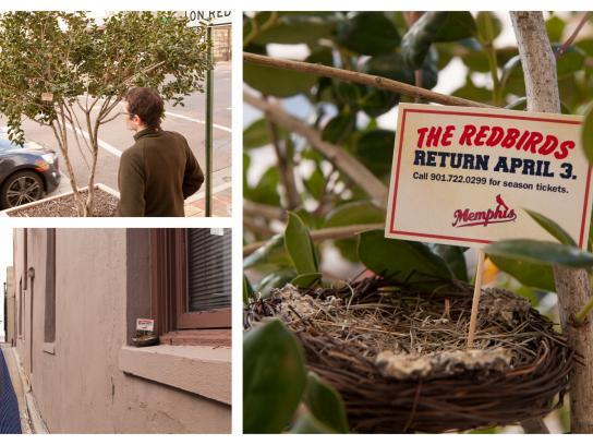 Memphis Redbirds Ambient Ad -  Empty Nest