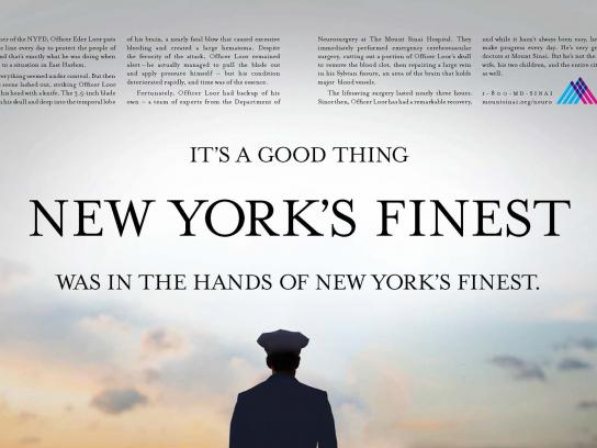 Mount Sinai Print Ad -  New York's finest