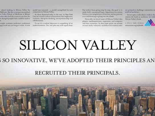 Mount Sinai Print Ad -  Silicon Valley