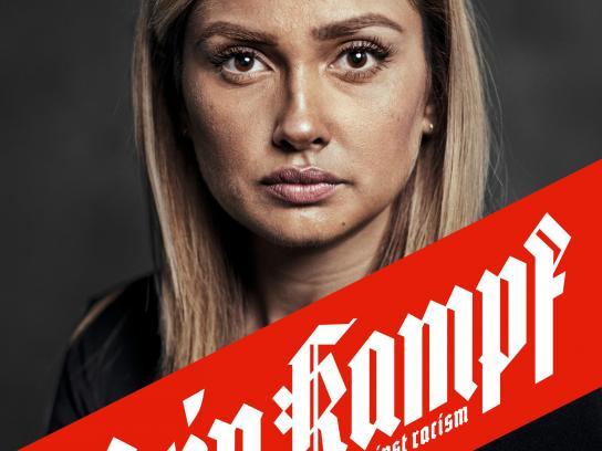 Gesicht Zeigen Print Ad - Mein Kampf – against racism –  Wana Limar