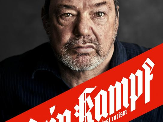Gesicht Zeigen Print Ad - Mein Kampf – against racism – Frank Kimmerle