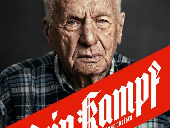 Gesicht Zeigen Print Ad - Mein Kampf – against racism – Mosche Dagan