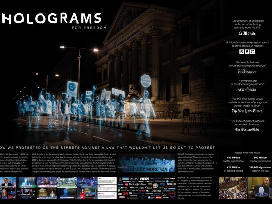 No Somos Delito Outdoor Ad - Holograms for freedom