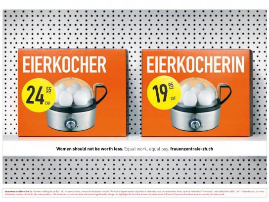 Frauenzentrale Print Ad -  Less, 8