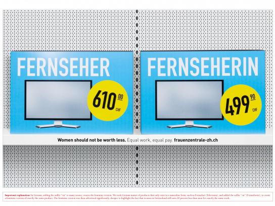 Frauenzentrale Print Ad -  Less, 7
