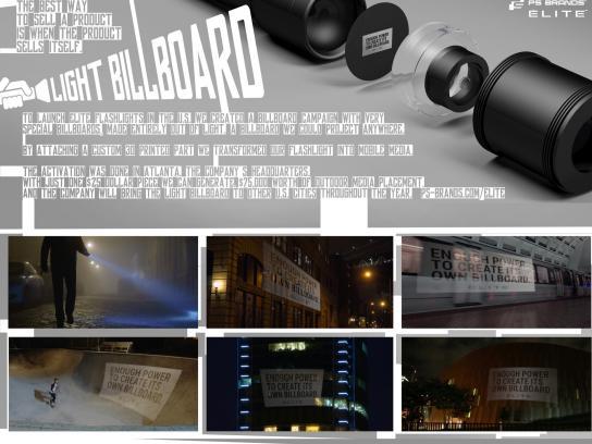 PS Brands Outdoor Ad - Flashlight billboard