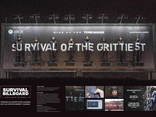 Microsoft Outdoor Ad - The survival billboard