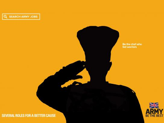 British Army Print Ad - For A Better Cause, Chef