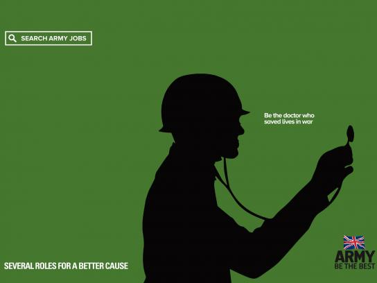 British Army Print Ad - For A Better Cause, Doctor
