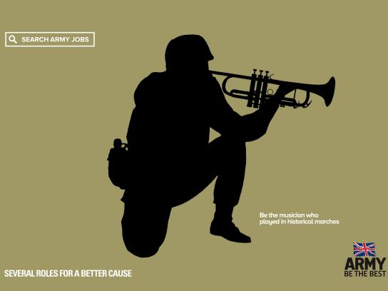 British Army Print Ad - For A Better Cause, Musician