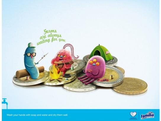 Familia Print Ad -  Germs, 1