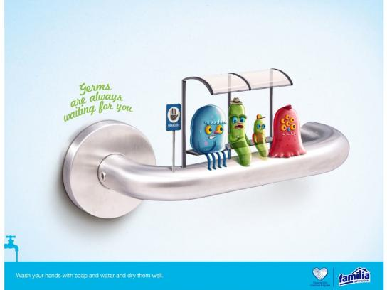 Familia Print Ad -  Germs, 2