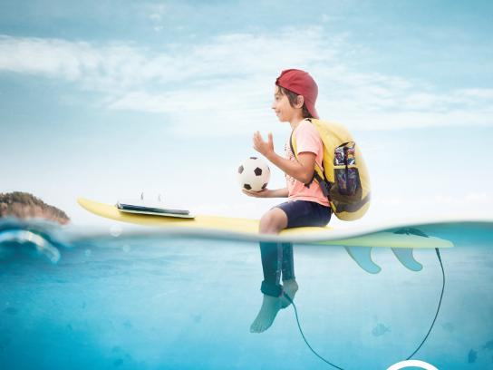 Associação Surf Social Wave Print Ad - Depois da onda há muito mar, 5