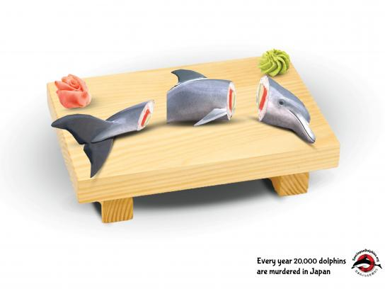 Save Japan Dolphins Print Ad - Dolphins Are Not Food, 2