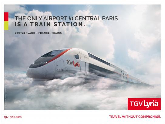 TGV Lyria Outdoor Ad - Day